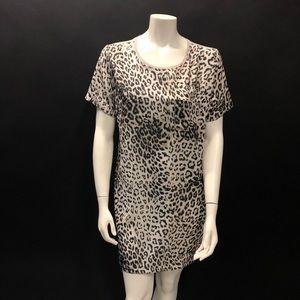 NWT Zara animal print mini dress L